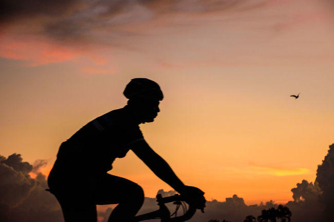 Bicycle Bicycle Sunset Time Silhouette Beauty In Nature Bicycle Bicycle Silhouette Bike Cloud - Sky Leisure Activity Lifestyles Men Nature One Animal One Person Orange Color Outdoors Real People Ride A Bicycle Ride Bicycle Side View Silhouette Sky Standing Sunset Three Quarter Length Vertebrate