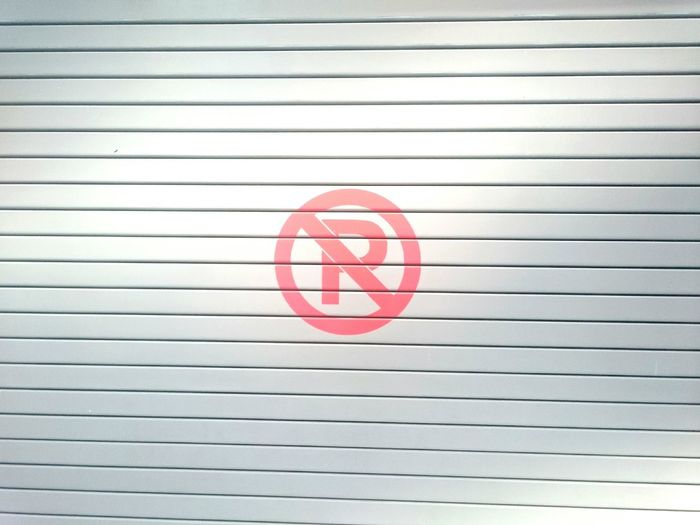 R Prohibited Alphabet Letter Signs