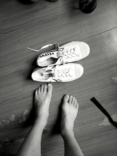 飞跃 Feiyue Barefoot 小白鞋 People First Eyeem Photo
