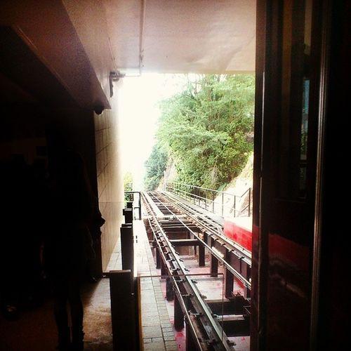 Just arrived at The Peak Tram, Hong Kong. Peaktram HongKong