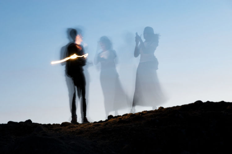 Spirits Capture Tomorrow Sky Newlywed Togetherness Women Love Wedding Bride Adult Celebration Standing Event Nature Bonding Positive Emotion Men Life Events Real People Group Of People Emotion Bridegroom Outdoors Couple - Relationship