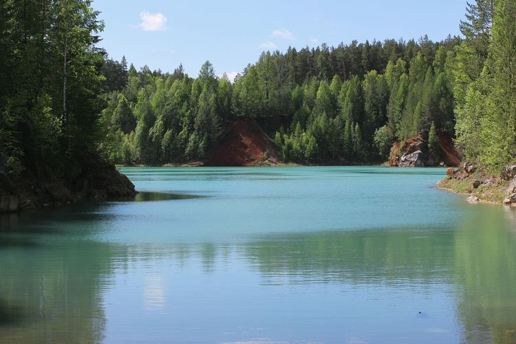 Ural Nature Sky Forest Quarry Green Water Noedit Nofilter