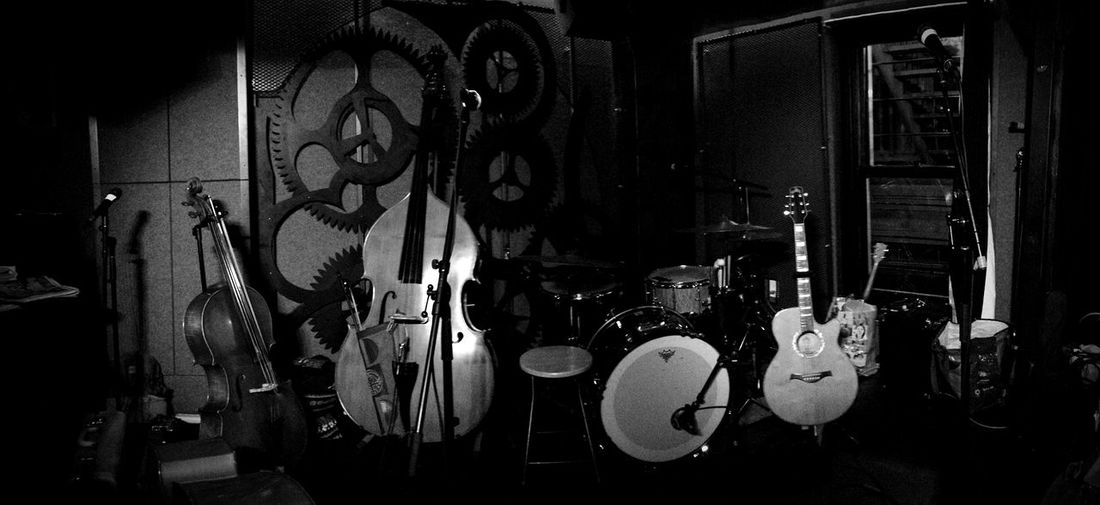Before Show Cello Double Bass Guitar Drums Musical Instruments Banjo