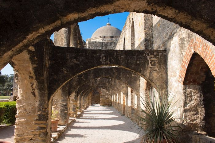 History Architecture Arch Monument Travel Destinations Built Structure No People Outdoors Day Missionsanjose Church Architecture Place Of Worship Religion Sanantoniomissions Historical Building History Through The Lens  Historical Site