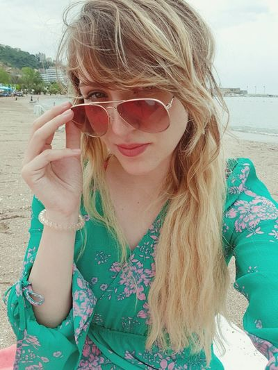 Water Portrait Sea Beach Young Women Sand Blond Hair Looking At Camera Smiling Summer