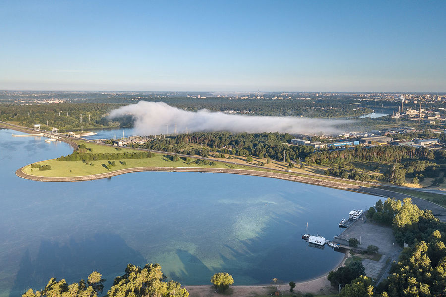 Morning fog over Kaunas lagoon Hidroelectric Kaunas Lagoon Power Plant Aerial View Architecture Beauty In Nature Building Exterior Built Structure City Cityscape Day Fog High Angle View Landscape Mavic Mavic Pro No People Outdoors Port Scenics Sky Tranquility Travel Destinations Tree Water The Week On EyeEm