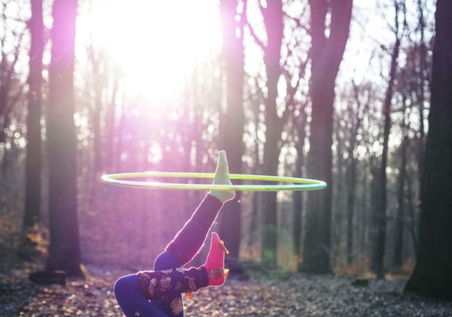 On The Move Hulu Hooping ,;* Hooping  Enjoying Life Capture The Moment Hulu Hoop Autumn Colorful Playing Lifestyle Sunshine Live For The Story