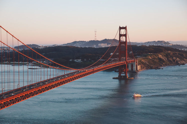 California Golden Gate Bridge San Francisco Architecture Beauty In Nature Bridge Bridge - Man Made Structure Built_Structure Connection Day Mountain Nature No People Outdoors Scenics Sky Sunset Suspension Bridge Transportation Travel Travel Destinations Water Fresh On Market 2017 California Dreamin