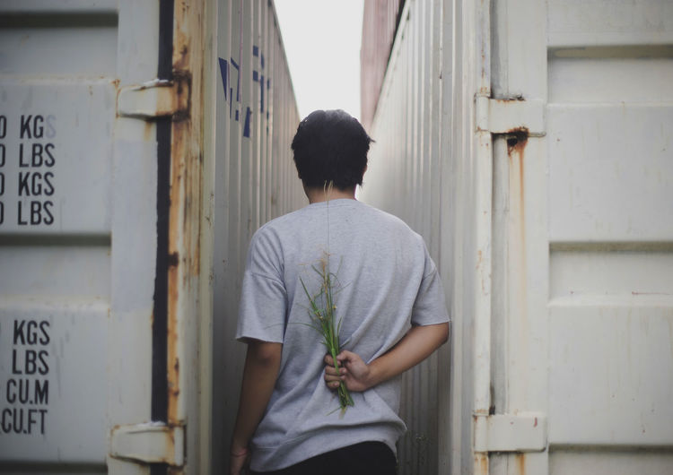 For You Back Date Love Man Valentine's Day  Art Casual Clothing Concept Day Flower One Person Outdoors Portrait Real People Rear View Standing