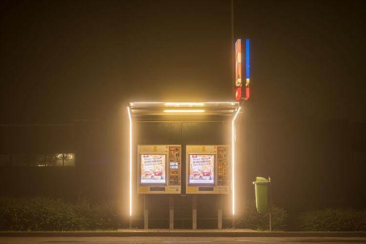 Austria Automat Bushes Cigarette  Cigarette Machine Darkness Fog Foggy Light Light In The Darkness Lonely Night Trash