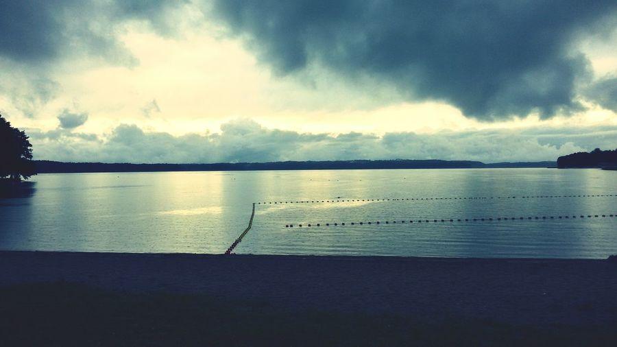 Plaża... Czaplinek Energysport Plaza Woda Kompielisko Wiatr Niebo Chmury Drzewa Drugi Brzeg Water Wind Sky Clouds Trees