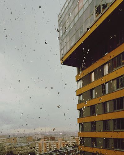 Rain in Moscow Built Structure Building Exterior Architecture City Window Out Of The Window Building Cityscape Glass - Material Modern Urban Geometry City Life Water Drop Skyscraper Outdoors Residential District Apartment Tall - High Rain