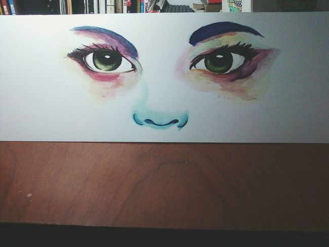 Acuarela Ilustration Watercolor Eyes Drawing ArtWork Practice Colors