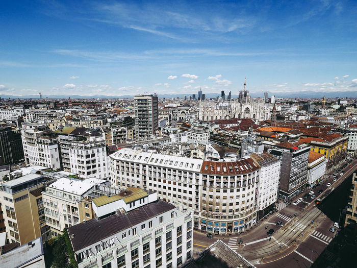 Aerial view of Milan Aerial Shot Architecture City Cityscape Italia Italien Milan Milano Skyline Aerial View Architecture Italy