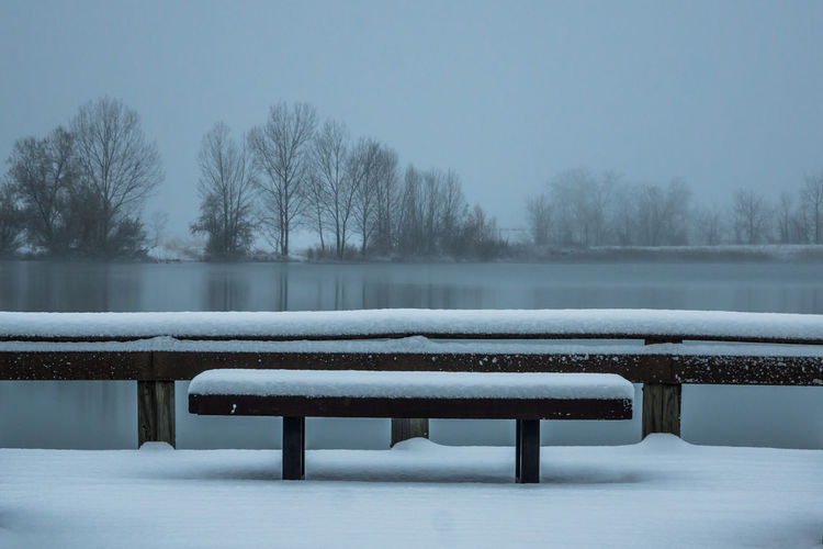 First taste of winter Bare Tree Beauty In Nature Clear Sky Cold Cold Temperature Day Frost Frozen Ice Lake Landscape Nature No People Outdoors Scenics Sky Snow Snowing Tranquil Scene Tranquility Tree Water Weather White Color Winter