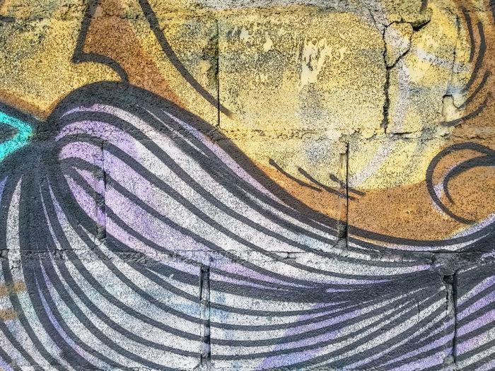 Abstract Art Block Blue Brick Wall Cement Close-up Colorful Comunication Concrete Day Decor Decorative Art Design Graffiti Graffiti Art Home House Image Imagination LINE No People Outdoors Paint Style Yellow
