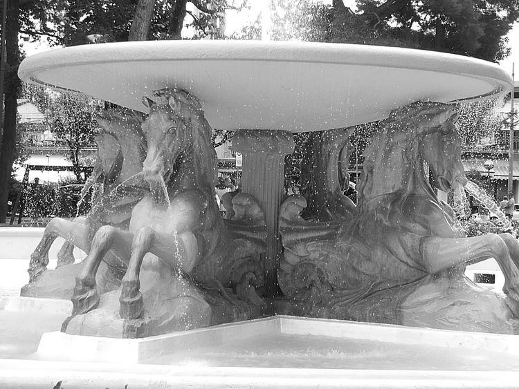 Monochrome Photography Fontana Water Cavalli Statua Statue Monument Black & White Huawei P9 Leica Schizzi Gocce D'acqua Acqua