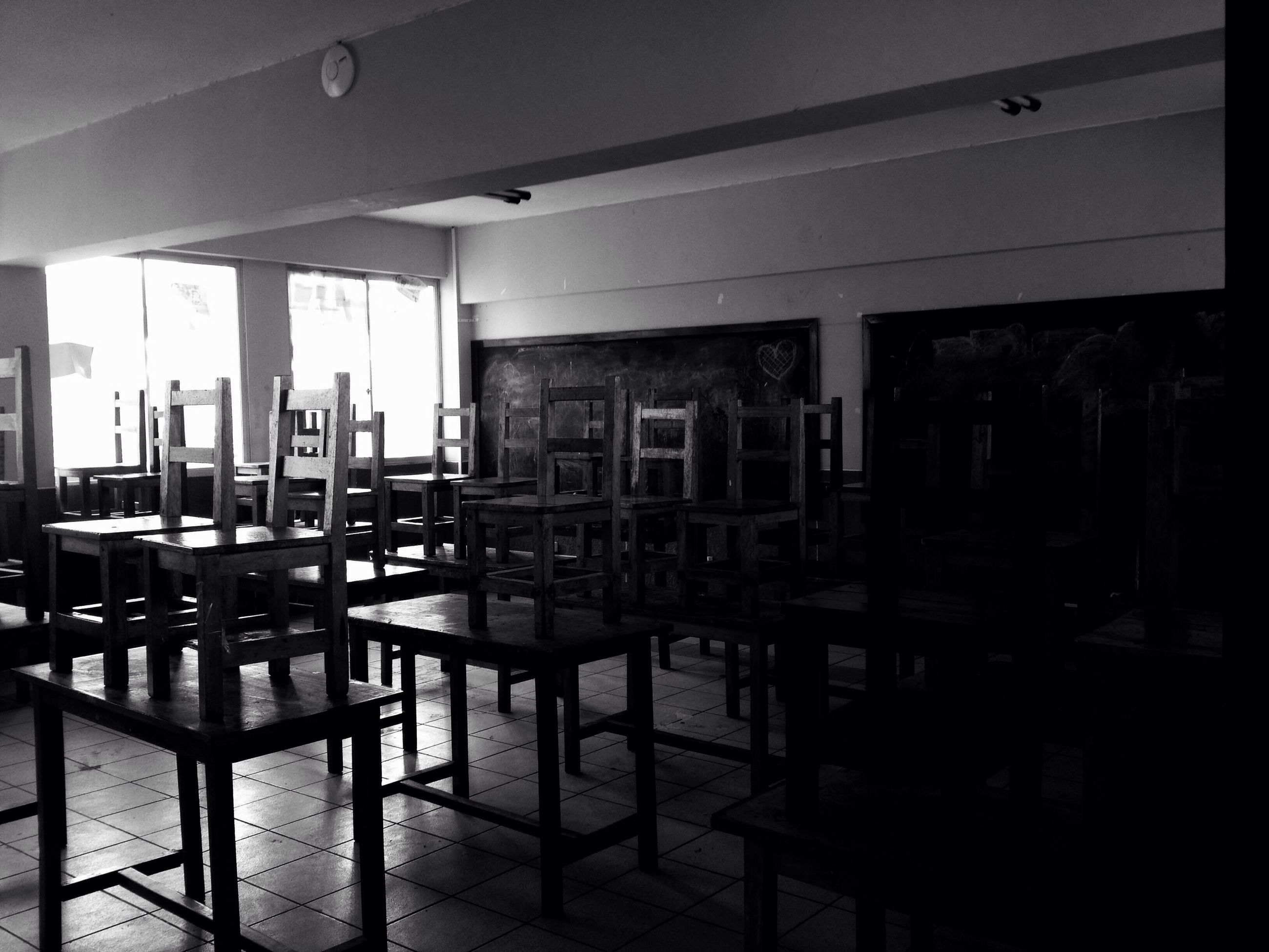 indoors, window, chair, absence, table, empty, large group of objects, group of objects, no people, solitude