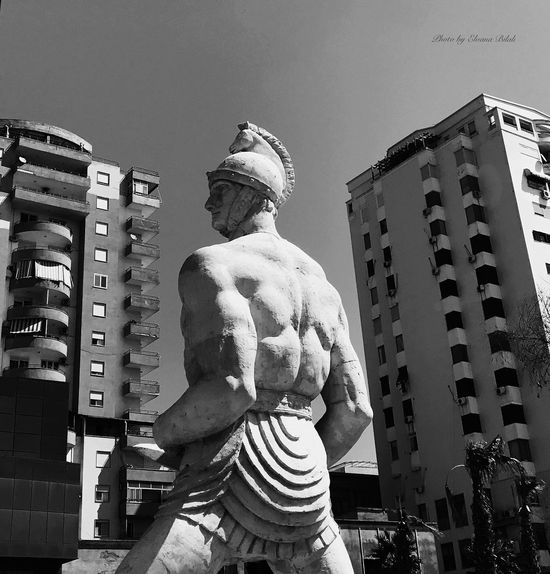 Your Ticket To Europe Durres Albania Statue Sculpture Architecture Human Representation Built Structure Building Exterior Art And Craft Low Angle View City Travel Destinations Outdoors Day No People Sky
