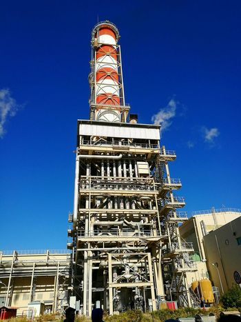 Hellenic Public Power Corporation, combined cycle power station with total rated power 560MW 🏭 Dei Ppc Alstom Low Angle View Sunny Greek morning 🌞🌞