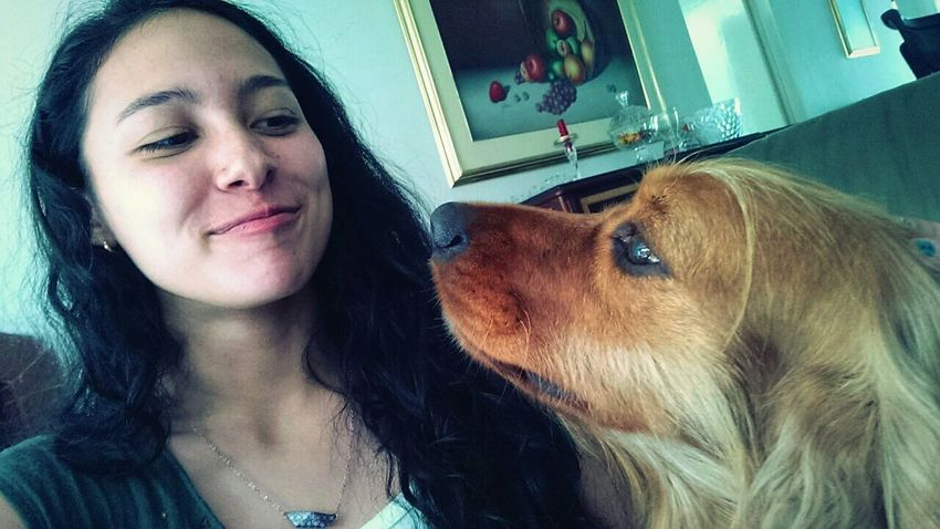 A Girl And Her Dog Silly Faces  Some people's happiness is worth everything