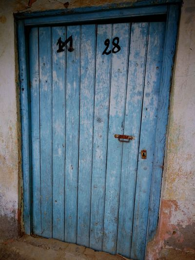 Door Wood - Material Outdoors Protection No People Built Structure Close-up Lock Architecture Abondoned Oldhouse Misère Blue Day Algeria Tiziouzou Maathkas Closed Weathered Hinge Rusty Be. Ready.