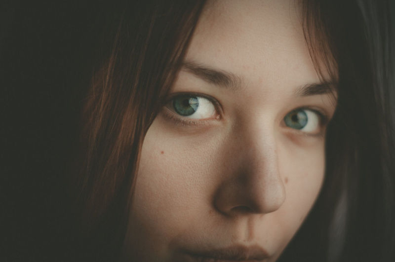 Beautiful Woman Beauty Close-up Concerned Confidence  Dramatic Looks Eyes Girl Human Eye Human Face Looking At Camera Mysterious One Person People Portrait Pretty Eyes Selfie She Skin Skin Pores Soft Focus Soft Focus Portrait Young Adult Young Women