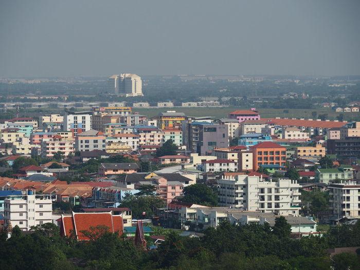 Panoramic view of buildings, rangsit thailand, november 15, 2019
