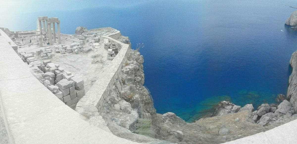 Acropolis of Lindos Acropolis Greece Greek Panorama See Blue White Stone Holiday Beautiful Rocks Time Stands Still The Essence Of Summer- 2016 EyeEm Awards The Essence Of Summer Original Experiences On The Way