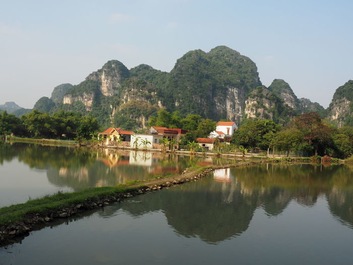 'The inland Ha Long Bay' Water Reflection Mountain Sky Mountain Range Nature Beauty In Nature Waterfront Tranquility Tranquil Scene Non-urban Scene Mountain Peak Architecture No People Scenics - Nature EyeEm Nature Lover