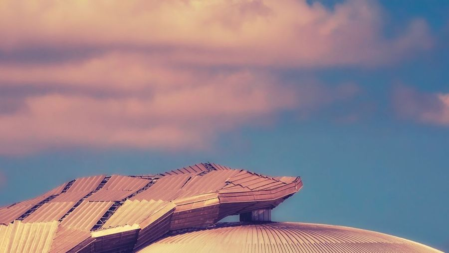 Roof against sky