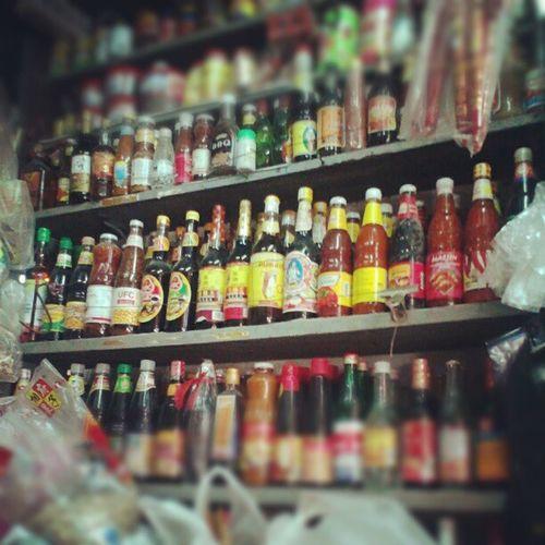 Sauce Bottles Smallshop Chinatown Yangon Myanmar