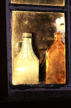Bottle Close-up Day Freshness Glass - Material Illuminated Indoors  No People Window
