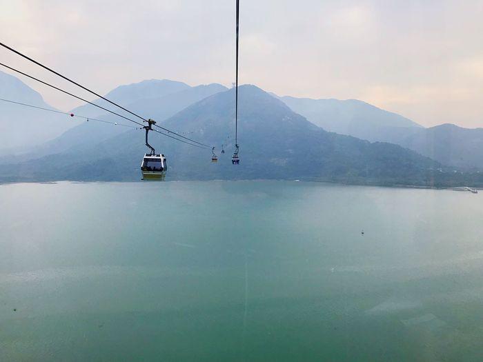 Cable Car Mountain Nature Sky Crossing HongKong NgongPing Sky-Land-Sea