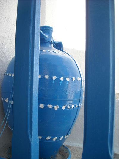 Blue Blue Sky Close-up Day GREECE ♥♥ Greek Pottery Pot Potrait Pottery Traditional Traditional Pottery White Colour Of Life
