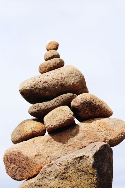 EyeEm Selects Rock Solid Stack Stone - Object Rock - Object Balance Zen-like No People Stone Nature Sky Land Close-up Beach Clear Sky Textured  Outdoors The Still Life Photographer - 2018 EyeEm Awards The Creative - 2018 EyeEm Awards