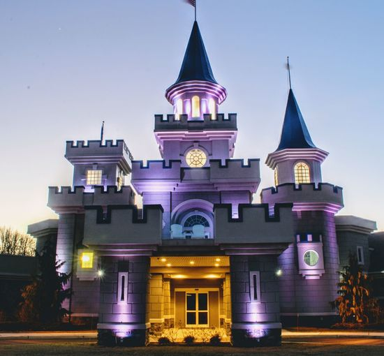 Architecture Illuminated Newjersey Makeawishfoundation Castle Walls Outdoors Multi Colored Sky Night