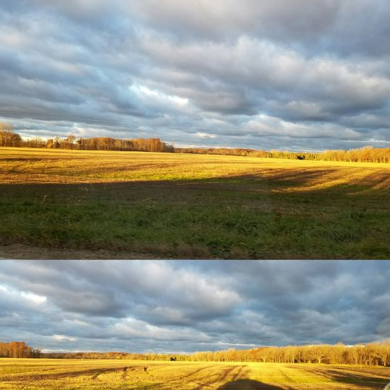Morning Sky Cloud - Sky Dramatic Sky Landscape Agriculture Outdoors No People Sky Stop And Look Around Fall Colors Enjoying Life Morning Light Lovephotography  Fall Days The Drive