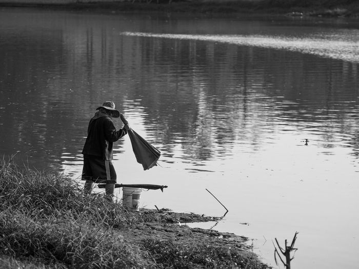 Chiangmai Thailand Water Work Woman Blackandwhite