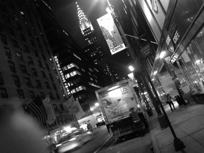New York City Chrysler Building Lexington and Fifth Ave. Black And White Empire State Of Mind Night Photography City Lights Cityscapes Street Photography Femalephotographer Black And White Photography Travel Photography Iconic Buildings Cityscape