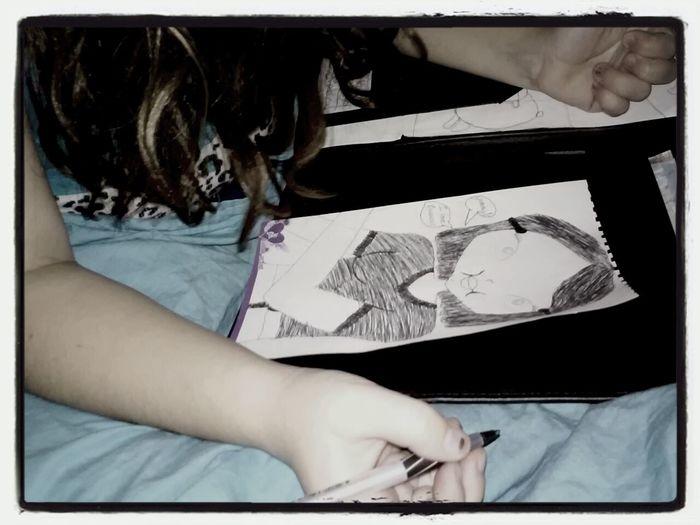 Daughter Drawings Happiness Insomnia+ocd=art! Art