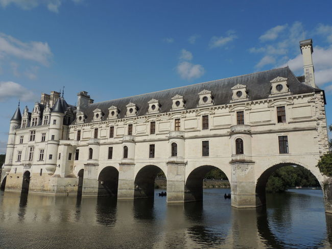 Chenonceau Chenonceaux Chenonceau Castle Loire Loire Valley Loire River France Built Structure Architecture Sky Building Exterior Water Nature Arch History Building The Past Day Cloud - Sky Waterfront Travel Destinations No People Reflection Lake Travel Outdoors Arched