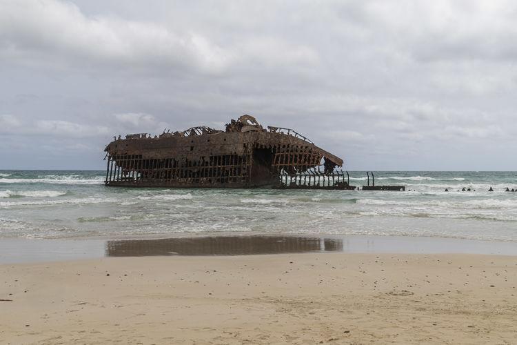 Santa Maria shipwreck in Cabo Verde Santa Maria Ship Shipwreck Shipwreck Beach Shipwrecked Capo Verde Cabo Verde Cabo Verde Africa Boa Vista Boa Vista, Cabo Verde Boa Vista Beach Africa