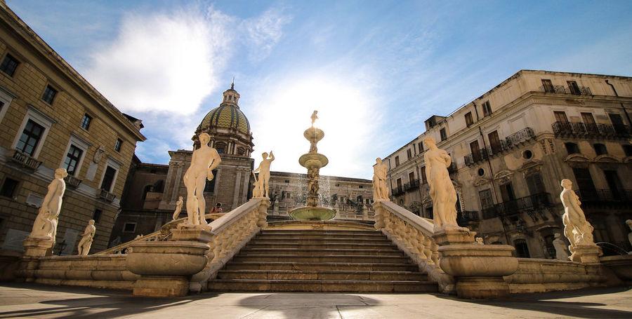 m.sinczak Architecture Cloud - Sky Fontana Fontana Pretoria Fountain Palermo Pretoria Shadow Sun First Eyeem Photo