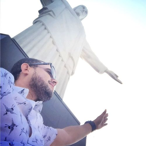 Cristo Redentor, 20 Sep 2016. Young Adult Side View Young Men Person Casual Clothing Day Sky Outdoors Serious Cristoredentor Cristo