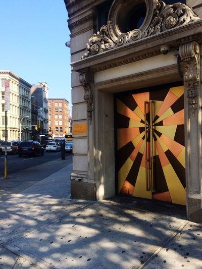 Street Corner Door Metal Gold Sun NYC New York City Artistic Street
