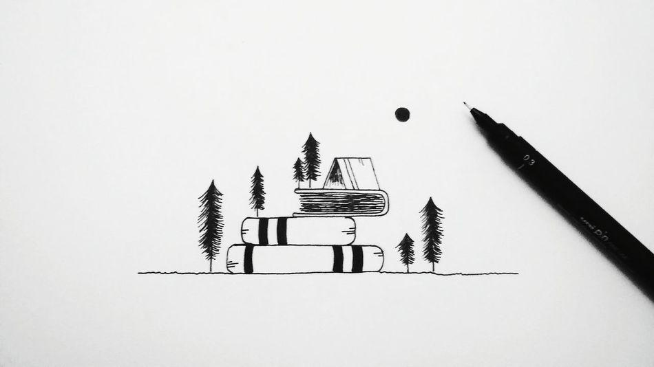 Paper Clip Paper Business Finance And Industry Home ArtWork Artist Blackandwhite Ink Inktober