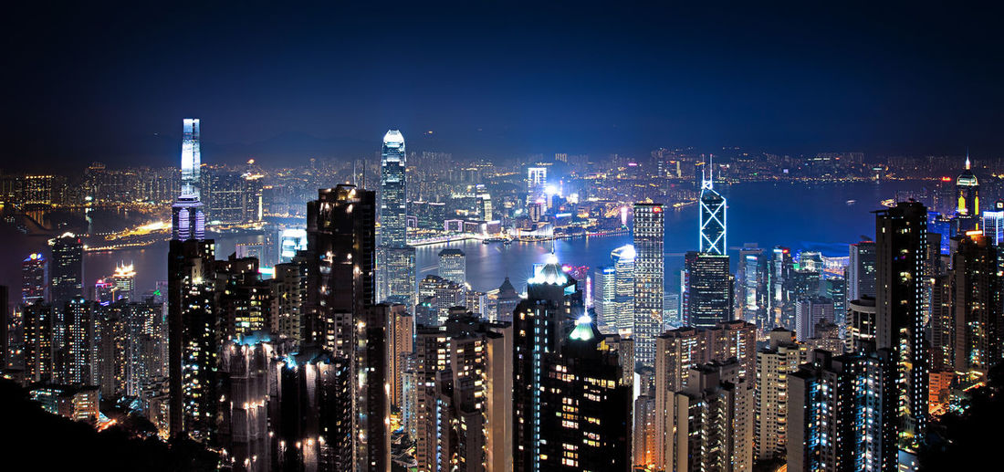 Night view on Hong Kong skyline from Victoria Peak Architecture Business Finance And Industry City City Life Cityscape Cityscapes Downtown District HongKong Horizontal Illuminated Modern Night Night Lights Night View Nightphotography No People Outdoors Scyscrapers Sky Skyscraper Travel Destinations Urban Skyline Victoria Peak, Hongkong First Eyeem Photo