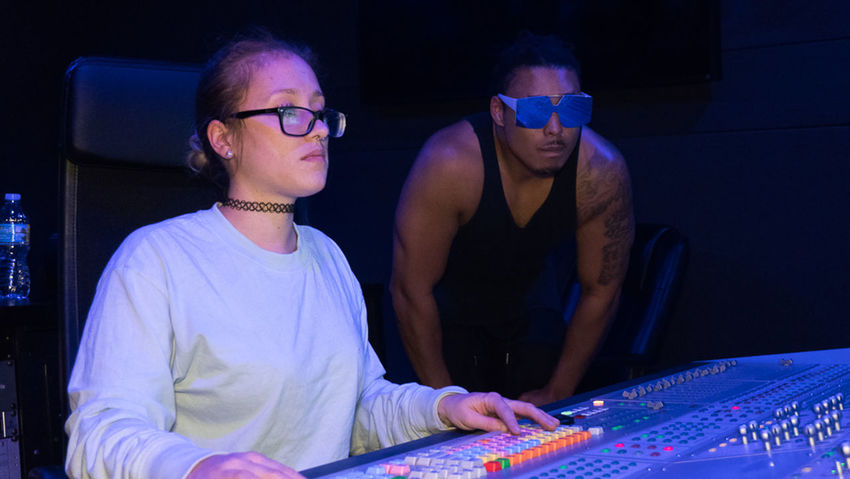 #Artist #EyeEm #MusicianLife #SonyA6300 #WomeninBusiness #Youngman #engineering #recording Studio #sound Engineer #sound Engineer Mixer Adult Eyeglasses  Indoors  Leisure Activity Lifestyles Mixing Music People Real People Sound Mixer Technology Togetherness Two People Youngwoman