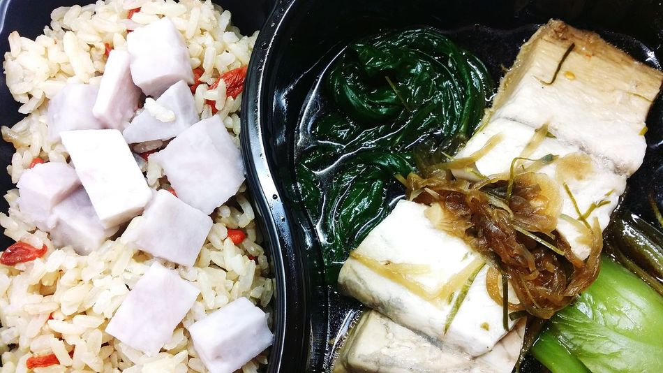Lunch Delivery Cantonese Steamed  Sea Bass Yam Rice Food Foodphotography Snapshots Of Life Eyeem Food  Eyeemphotography Eyeemcollection EyeEm Gallery Singapore